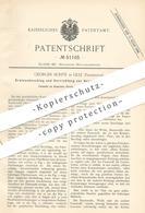 Original Patent - Georges Scrive , Lille , Frankreich , 1889 , Kratzenbeschlag | Metall , Metallbearbeitung !!! - Historische Dokumente