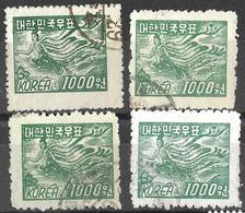 8Bv-951:restje: 4 Zegels: Mi.N°94 ...om Verder Uit Te Zoeken... - Corée Du Sud