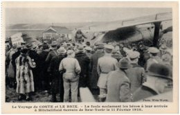 Le Voyage De COSTE Et LE BRIX - La Foule Acclamant Les Héros à Leur Arrivée à Mitchlifield - Flugwesen