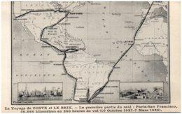 Le Voyage De COSTE Et LE BRIX - La Première Partie Du Raid : Paris-San Francisco - Aviation