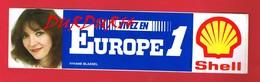 1 Autocollant EUROPE 1 Viviane BLASSEL Pub Shell - Autocollants