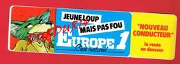1 Autocollant EUROPE 1 Jeune Loup - Autocollants