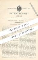 Original Patent - Rodolphe Hessé , Marseille , Frankreich , 1889 , Federkraftmaschine | Motor , Motoren !!! - Historische Dokumente