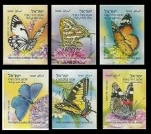 2011 Israel2208-2212Butterflies In Israel Ph - Gebraucht (mit Tabs)