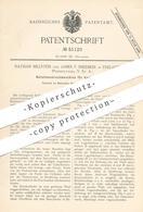 Original Patent - Nathan Billstein , James F. Snediker , Philadelphia Pennsylvania USA , 1889 , Druckmaschine Für Karten - Historische Dokumente