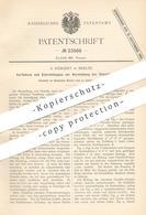 Original Patent - S. Weigert , Berlin , 1883 , Herstellung Von Chenille - Streifen | Weben , Wolle , Weberei , Weber !! - Historische Dokumente