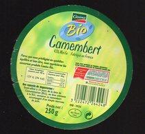 Fev19   56053     étiquette Camembert  Bio  Casino - Formaggio