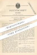 Original Patent - J. W. Stawitz , München , 1882 , Spülung Für Kloset | WC , Toilette , Klempner !! - Historische Dokumente