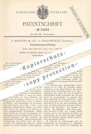 Original Patent - F. Martini & Co. , Frauenfeld / Schweiz , 1884 , Fadenauszugsvorrichtung | Nähmaschine , Schneider !! - Historische Dokumente