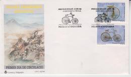 ANDORRA 1998 CYCLING BICYCLE MUSEUM MUSEOS ANDORRANOS BICICLETAS FDC - Ciclismo