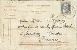 Souvenir D'OSTENDE - Carte-lettre-illustrée - Oblitération De 1908 - 8 Vues - Oostende