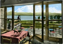 ENNA  Lago Pergusa Visto Dal Villaggio Turistico  Centrotavolo Carretto Siciliano - Enna