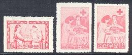 Korea North Mi 131-133 Red Cross Nurse, Mint NH, Scott 125-127, Free Shipping To USA - Korea, North