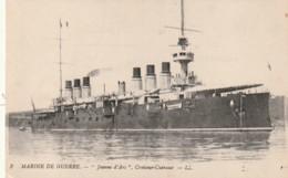 ***MILITARIA  ***  Croiseur Cuirassé Jeanne D'Arc - écrite TTB - Guerre