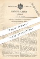 Original Patent - Schaeffer & Reiner , Köln / Ehrenfeld , 1895 , Automat Für Karten | Verkaufsautomat , Fahrkarten !!! - Historische Dokumente