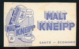 BUVARD:  MALT KNEIPP - SANTÉ ECONOMIE - JUVISY SUR ORGE - FORMAT  Env. 13X21 Cm - Buvards, Protège-cahiers Illustrés
