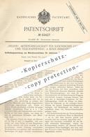 Original Patent - Helios AG Für Elektrisches Licht & Telegraphenbau , Köln / Ehrenfeld , 1888 , Elektrische Bahnanlagen - Historische Dokumente