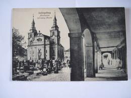 CPA  ALLEMAGNE  Ludwigsburg  Marktplatz Mit Evang Kirche TBE - Ludwigsburg