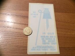 AUTOCOLLANT, Sticker Inversé «ELCO P1 - LEMÉNAGER SA - ISIGNY-SUR-MER (14)» (agriculture, élevage) - Stickers