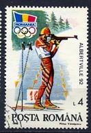 Roumanie - Rumänien - Romania 1992 Y&T N°3985A - Michel N°4761 (o) - 4l Biathlon - 1948-.... Republiken