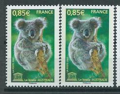 [28] Variété :  Services N° 139 Koala Bleu Au Lieu De Brun + Normal ** - Variétés Et Curiosités