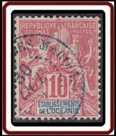 Océanie 1892-1912 - N° 15 (YT) N° 15 (AM) Oblitéré De Iles Marquises / Taiohae. - Ozeanien (1892-1958)