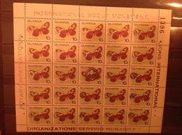 Guyana 1989 Scouts Lions + Rotary 10c Butterflies M/S MNH - Guyana (1966-...)