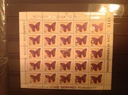 Guyana 1989 Scouts Lions + Rotary 15c Butterflies M/S MNH - Guyane (1966-...)