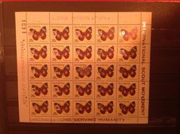 Guyana 1989 Scouts Lions + Rotary 25c Butterflies M/S MNH - Guyane (1966-...)