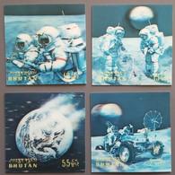 Bhoutan - YT N°411 à 414 - Espace / Apollo XVII - 1973 - Neufs - Bhoutan