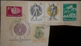 O) 1959 HUNGARY, TORSION BALANCE AND GLOBE, SOLDIER,WARRIOR, PLANE OVER SZEGED, TIHANY, F. - Hungary