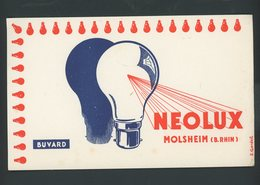 BUVARD:  NEOLUX - MOLSHEIM - FORMAT  Env. 20X12 Cm - Blotters