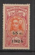 Océanie - 1924 - N°Yv. 65 - Timbre Surchargé 45c 1924 - Neuf GC ** / MNH / Postfrisch - Oceania (1892-1958)