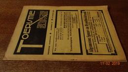#20714 [Boek - Tijdschrift] Toerisme, Negende Jaargang, Nummer 16, 15 Oogst [= Augustus] 1930 Dendermonde Aywiers Dinant - Tourisme