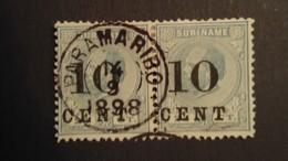 Suriname - Nr. 32B In Paar Gestempeld - Surinam ... - 1975