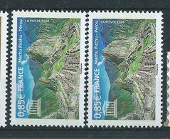 [28] Variété :  Services N° 141 Machu Picchu Montagnes Bleues Au Lieu De Violette + Normal ** - Variétés Et Curiosités