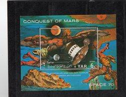 Yemen   Bloc MNH ** Conquête De Mars SPACE 70 01829 - Space