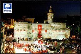 ITALIA 2007 - CITTA' DI VASTO - CASTELLO CALDORESCO - SUL RETRO VIGNETTA EUROPEI FEMMINILI BASKETBALL 2007 - Castelli