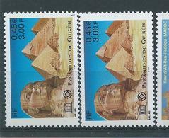 [28] Variété :  Services N° 124 Pyramides Sphinx Brun-olive Au Lieu De Brun-rouge + Normal ** - Variétés Et Curiosités