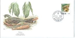 Enveloppe 1er Jour Palau FDC Jungle Night Jar 1992 - Palau