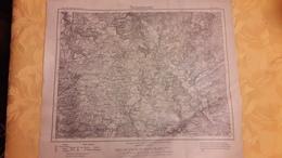 Carte Karte Des Deutschen Reiches Umdruckausgabe 554 Saarlouis 1921 37,5 Cm X 43 Cm - Topographische Karten