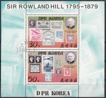 DPR Korea 1980 Sc. 1924a Rowland Hill (1795-1879) Centenary Of Death. Sheet Perf. CTO - Corée Du Nord