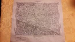 Carte Karte Des Deutschen Reiches Umdruckausgabe 1921 37,5 Cm X 43 Cm - Topographische Karten