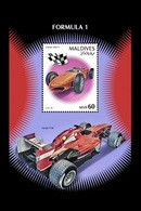 Maldives 2019 Mih. 8128 (Bl.1290) Formula 1. Automobiles Ferrari MNH ** - Maldives (1965-...)