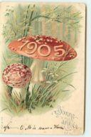 N°10846 - Carte Fantaisie Gaufrée - 1905 - Champignons - New Year