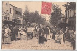 CPA- Les LILAS - Le Marché- 1904-dép93-2scans (très Très Animée) - Les Lilas