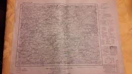 Carte Karte Des Deutschen Reiches Ausgabe Vom 16-2-1940 37,5 Cm X 50 Cm - Topographische Karten
