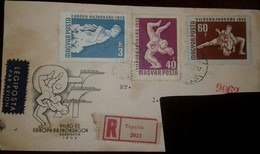 O) 1958 HUNGARY, INT, WRESTLING AND EROPEAN SWIMMING AND TABLE - SWIMMER-WRESTLERS, LEGIPOSTA - Hungary