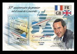 CAR 2019 Mih. 8618 (Bl.1811) Aviation. Supersonic Airliner Concorde MNH ** - Central African Republic