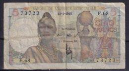 AFRIQUE OCCIDENTALE - 5 Francs Du 22-4-1948 - Billets